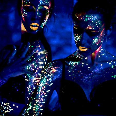 Black Orchid Ballerinas - UV act
