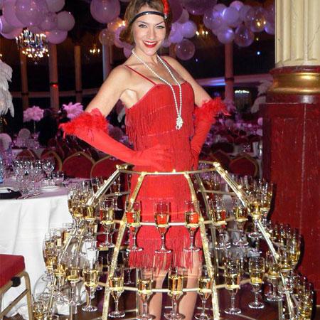 Robe Champagne - 1920s Theme