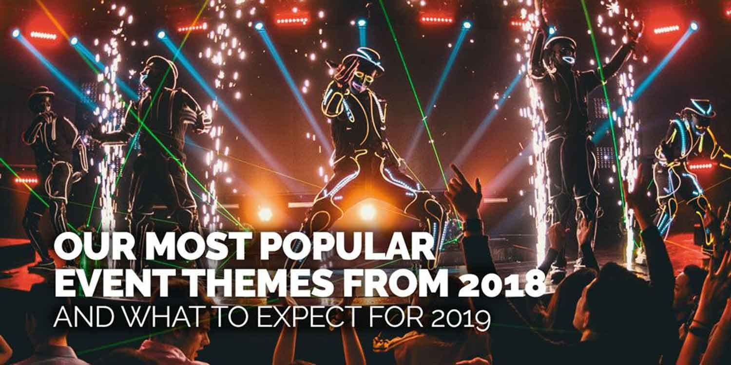 Our Most Popular Event Themes from 2018 and What to Expect for 2019