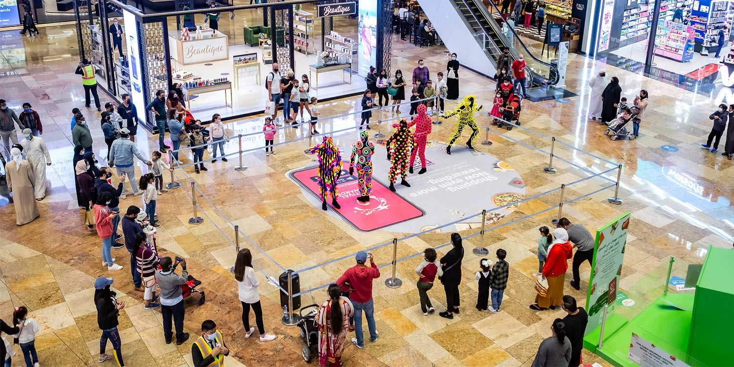 Colourful Characters Surprise Shoppers at the Dubai Festival City Mall