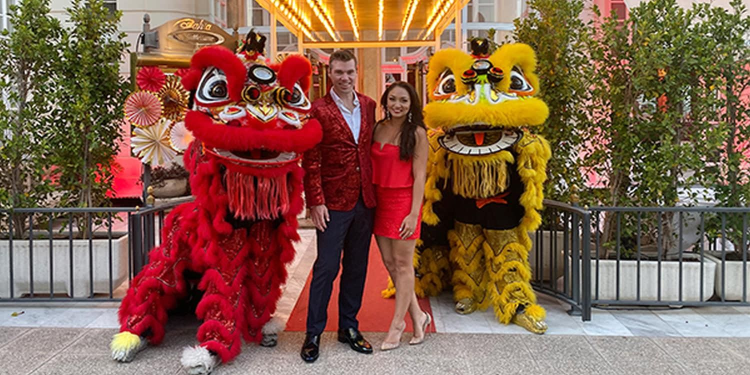 Chinese Lion Dancers Become The Talking Point At Wedding In Mallorca
