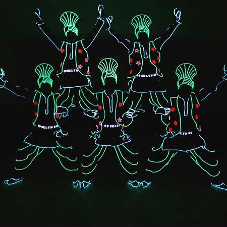 Skeleton Dance Crew - Bhangra Tron dancers