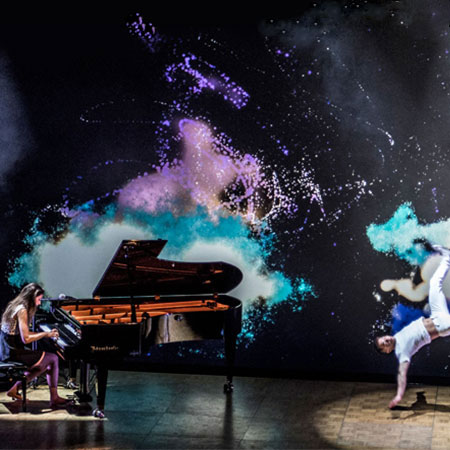 BlueLuna BV - Piano, Dance, Video Mapping
