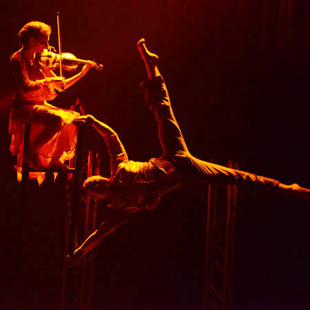Handstand Dance and Violin Play