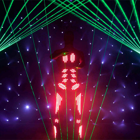 Switched On - Laser Harp Man