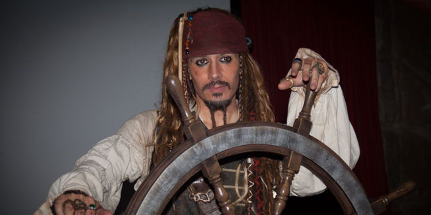 Captain Jack Sparrow Supplies The Swagger At Yorkshire Ceremony