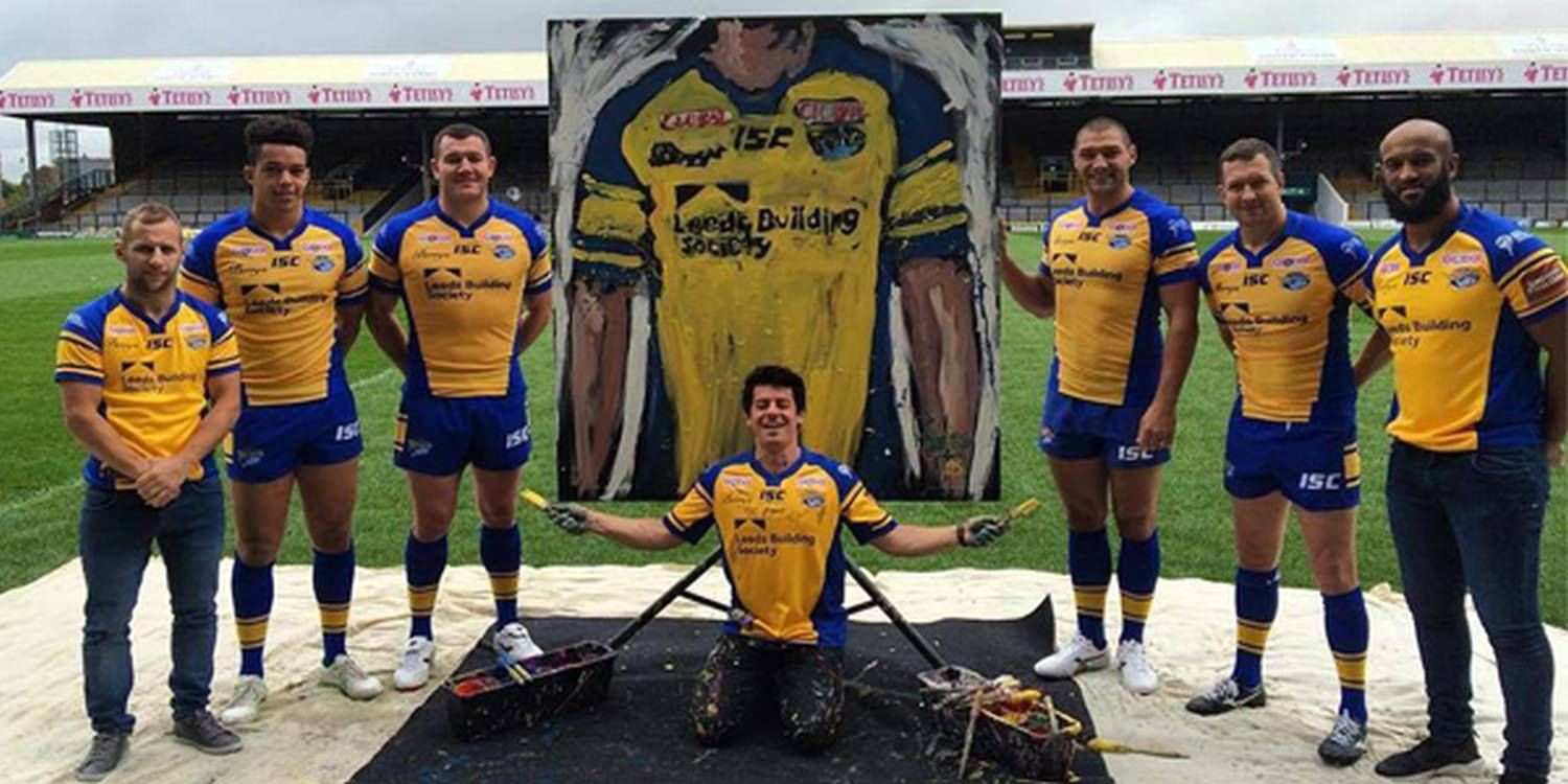 Dave Scores A Goal With Leeds Rhinos' New Kit Launch