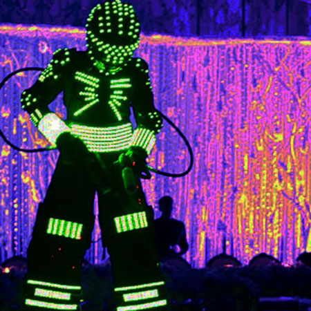 LED It Burn - LED & Laser Robots