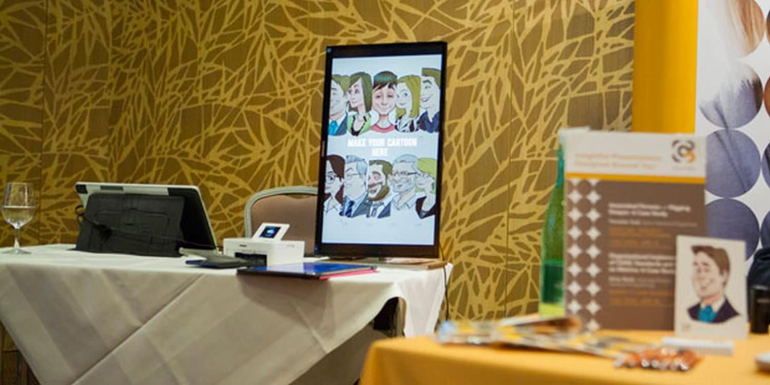 Digital Caricatures Draw Attention At Corporate Conference