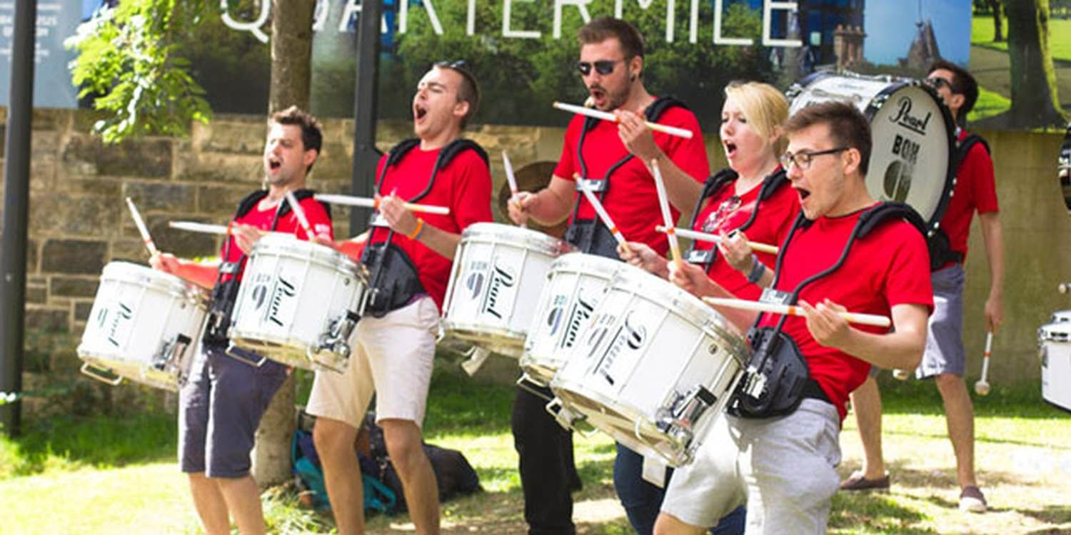 Drummers Make An Impact At Shell Event
