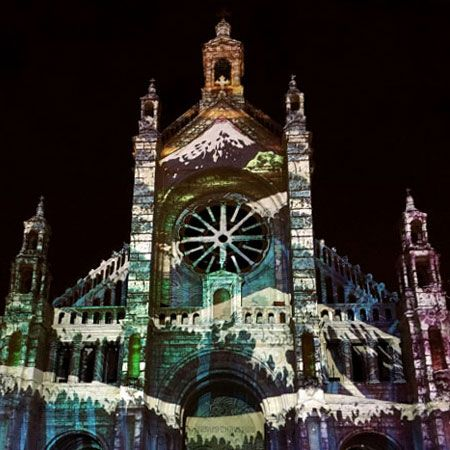 Drop The Spoon - Architectural Video Mapping