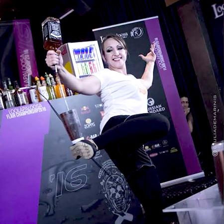Elizaveta Soboleva - Female Flair Bartender