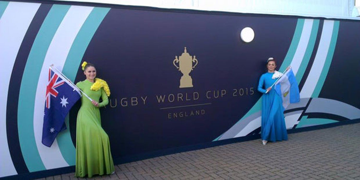 Scarlett Dancers Fly The Flag At Rugby World Cup