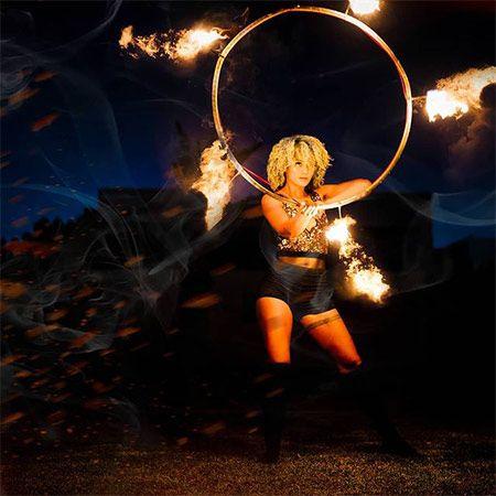 Faerie Hooplah - Fire Performer