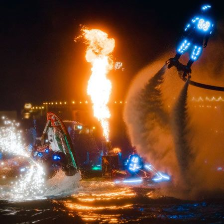 Flyboard and Fire Show