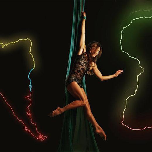 Laquebaila - Videomapping Aerial Dance