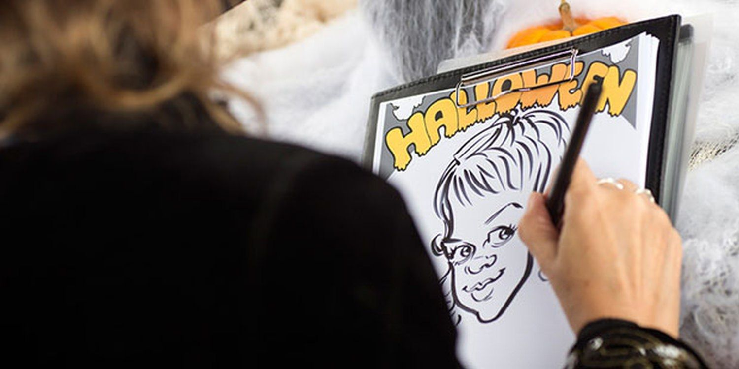 Creepy Caricatures Go Down Spooktacularly In Croydon