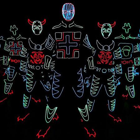 Skeleton Dance Crew - Tron dancers