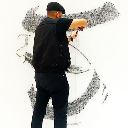 Ghyath Mahmoud - String and Peg Art