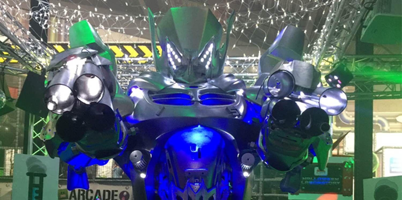 Scarlett's Transformerbot Was The Highlight Of Halloween Extravaganza
