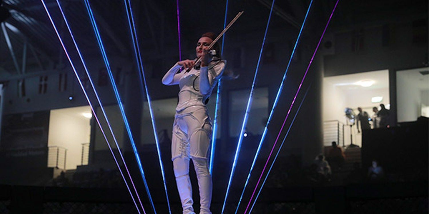 Drummers And Laser Violinist Amaze At The Opening Ceremony Of Brave International Combat Week 2019