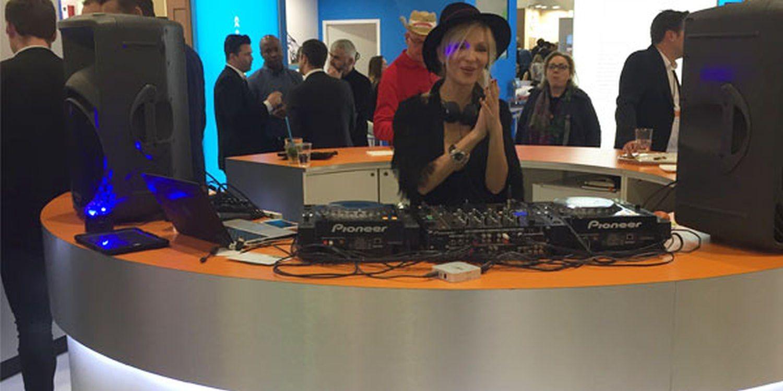 DJane Drops Beats At Berlin Exhibition
