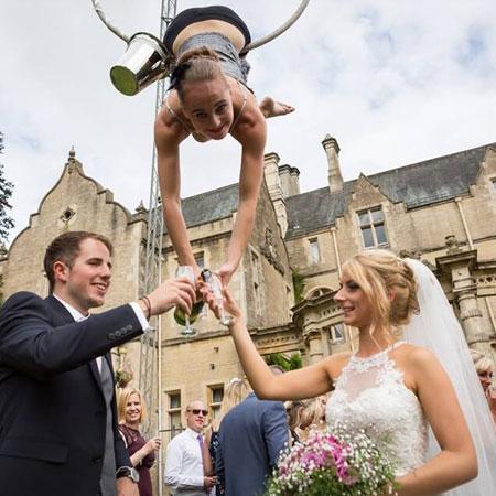 Elena Marina - Champagne Aerial Act