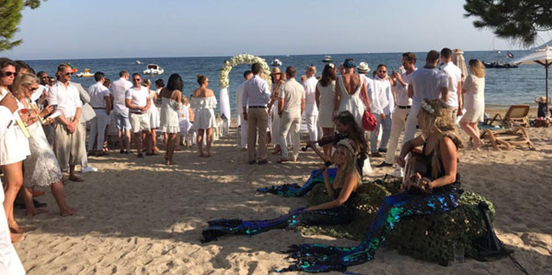 Musical Mermaids Entertain at Ibiza Wedding