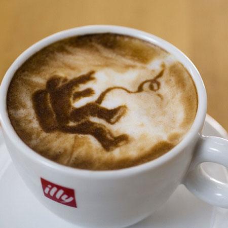 Coffee Artist Michael Breach