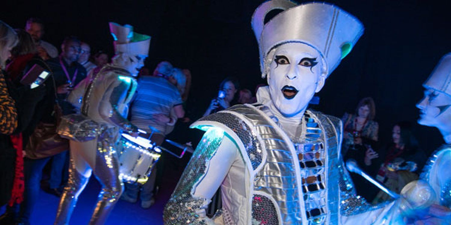 LED Drummers Are a Hit in Glasgow