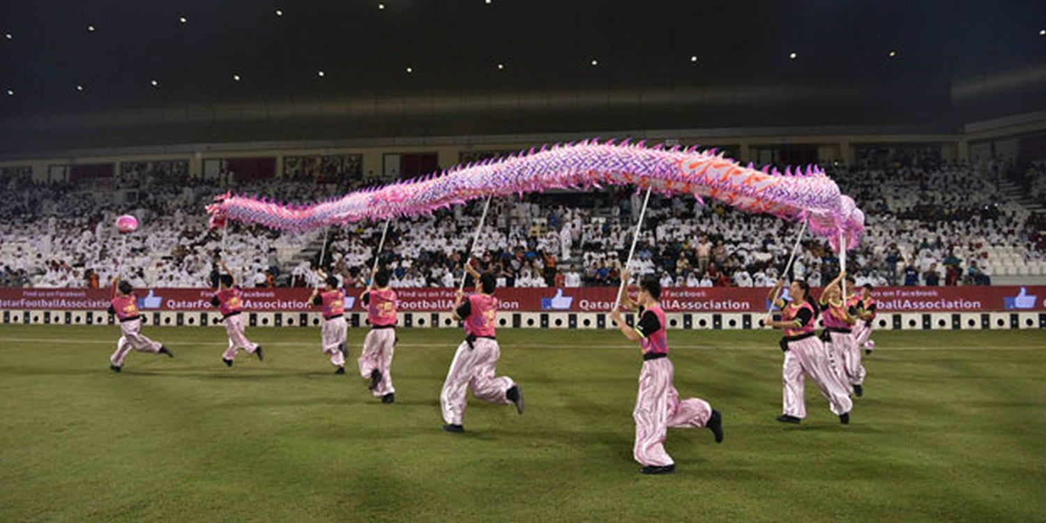 Performers Bring Authentic Chinese Entertainment To Doha Football Game