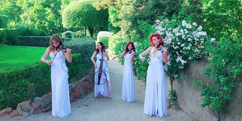 Elegant Electric Strings At Wedding In Rome