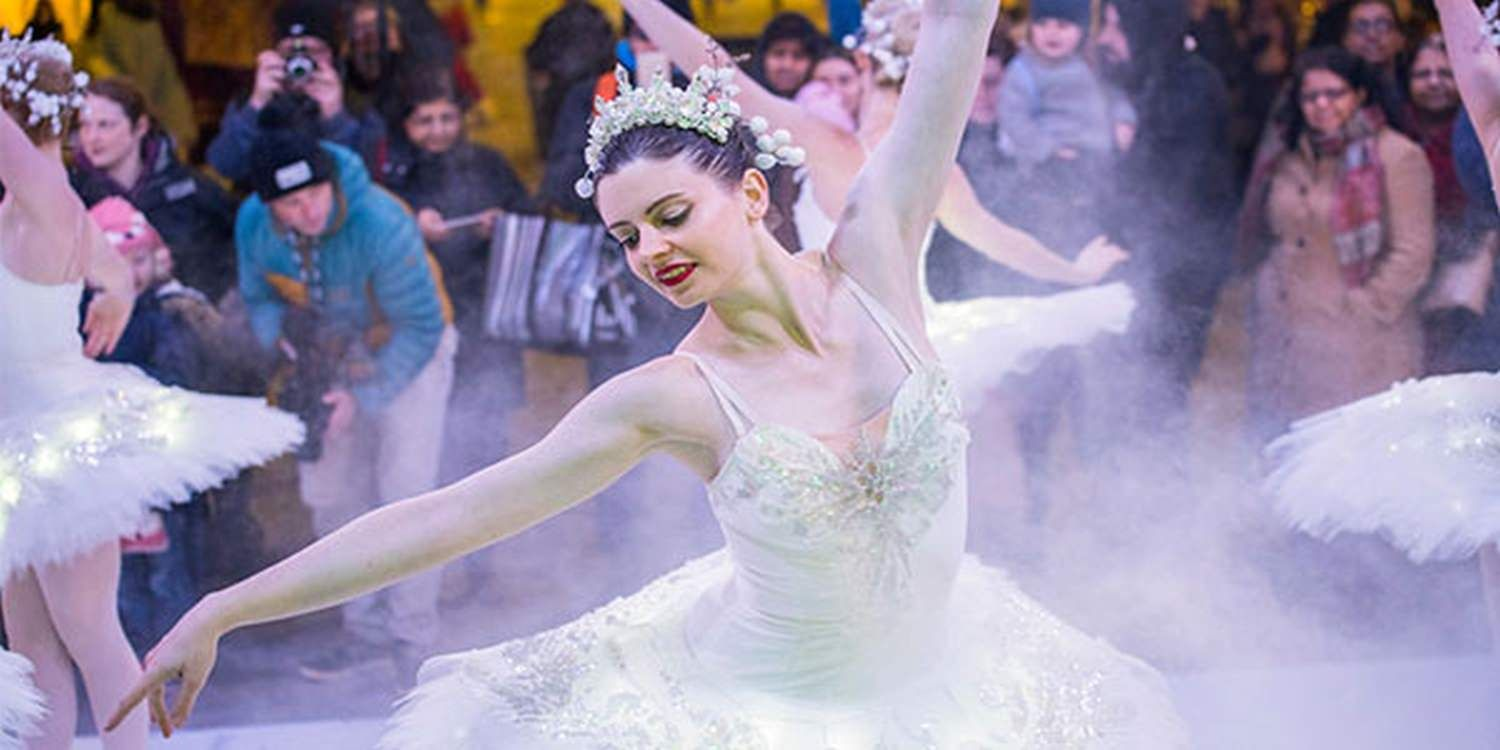 Swan Lake Ballerinas Take Centre Stage At Frostival