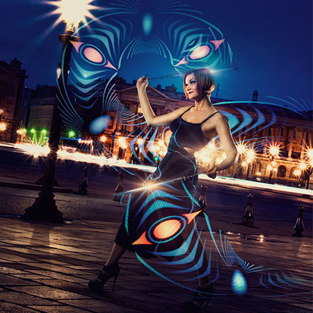 Sabine James - Fire and Pixel Poi