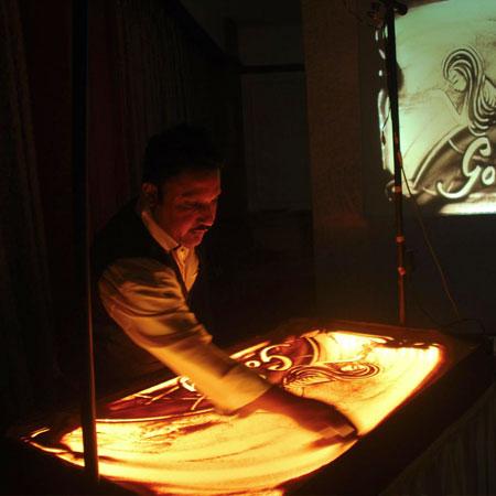 Sand Animator Kaushik Bose