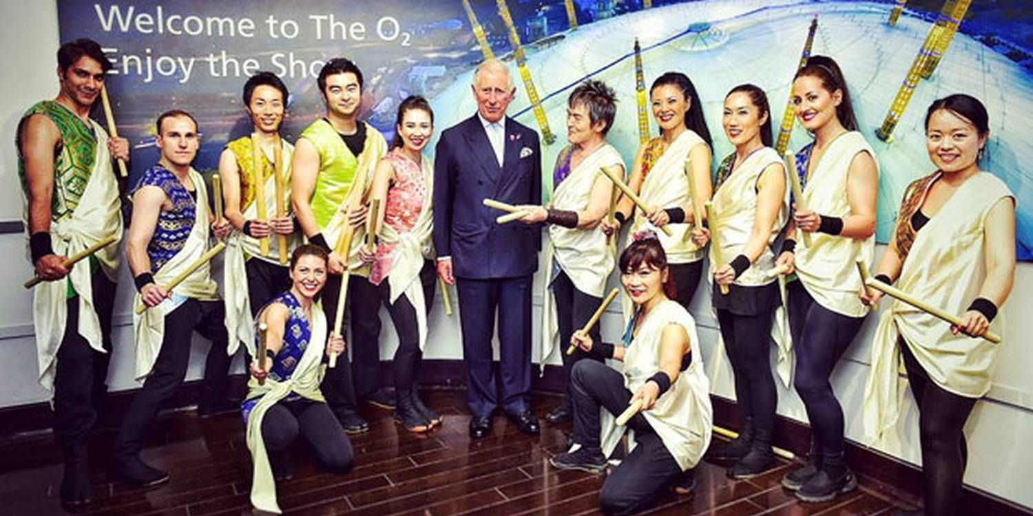 Taiko Drummers Perform For HRH In London