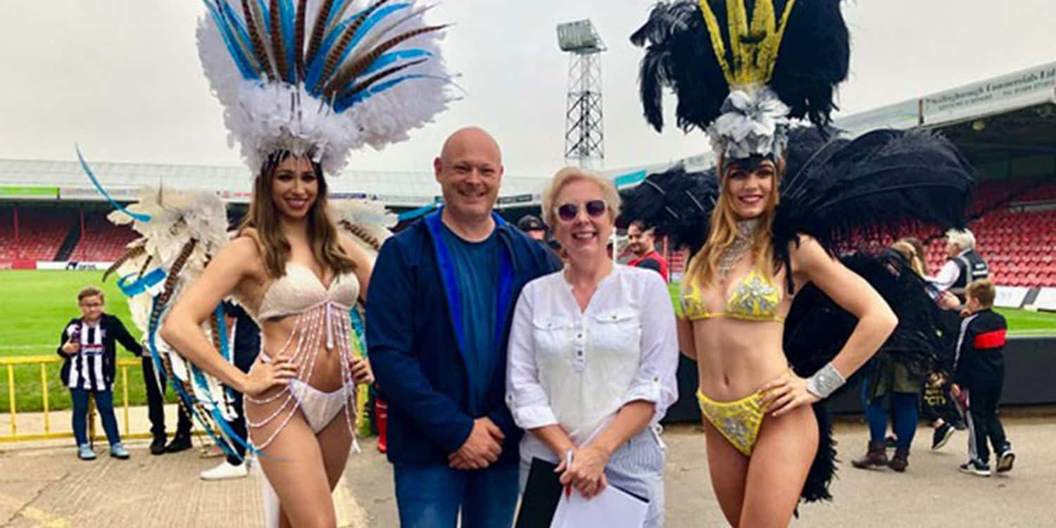 Showgirls Bring A Taste Of Brazil To Grimsby Town Football Club