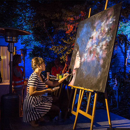 Clemence Powney - Live Painting