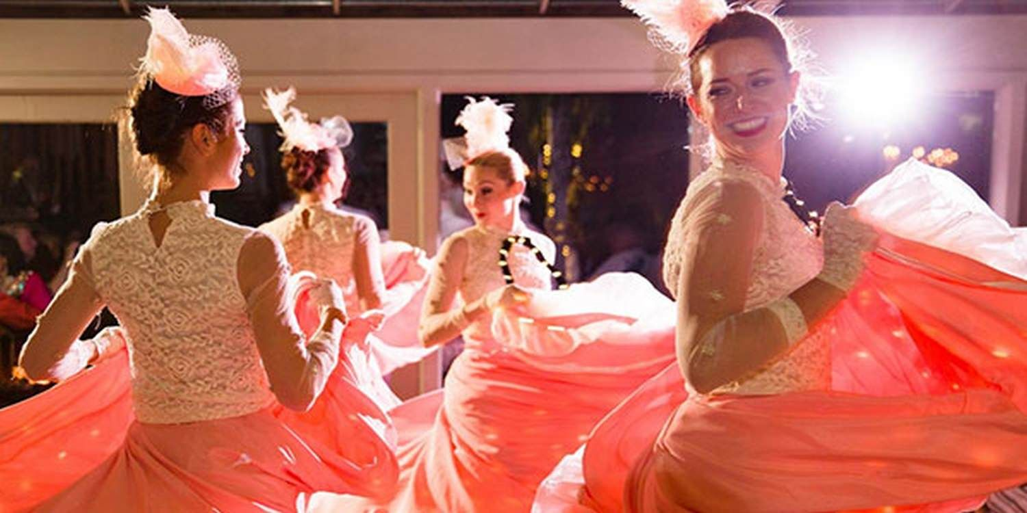 Can Can Dancers Dazzle At Grand Birthday Celebration