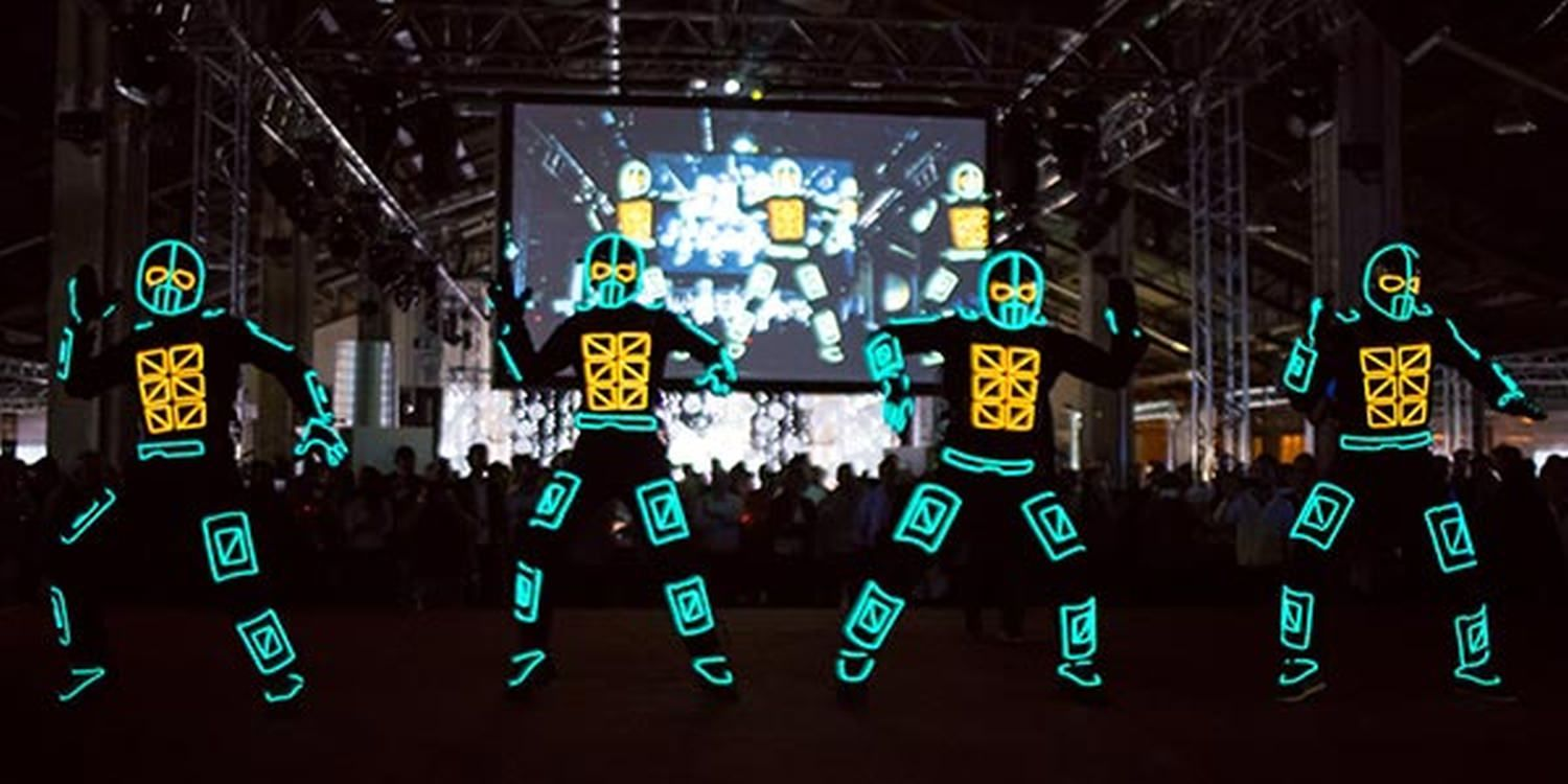 LED Tron Dancers WOW At French Tech Marseille
