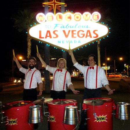 BOOM! Percussion Entertainment - LED Trash Can Percussion
