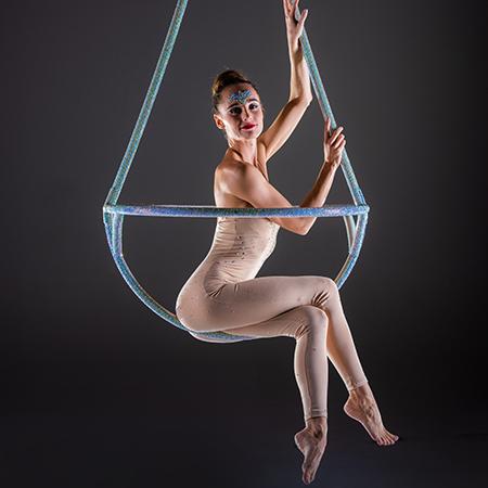 Elena Marina - Crystal Champagne Aerial Act