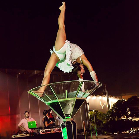 Weare Fire Storm - Giant Martini Glass Performer