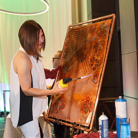 Olga Pankova - Painting with Fire on Copper