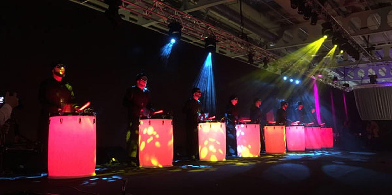 LED Drummers Light Up Vodafone Supplier Awards 2018