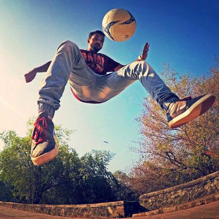 Aarish Ansari Football Freestyler