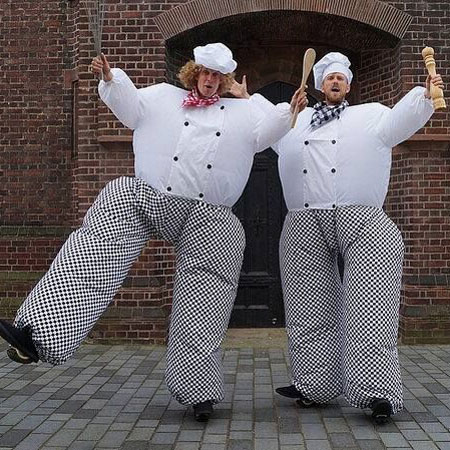 Hungry Chefs - Bouncing Stilt Walkers