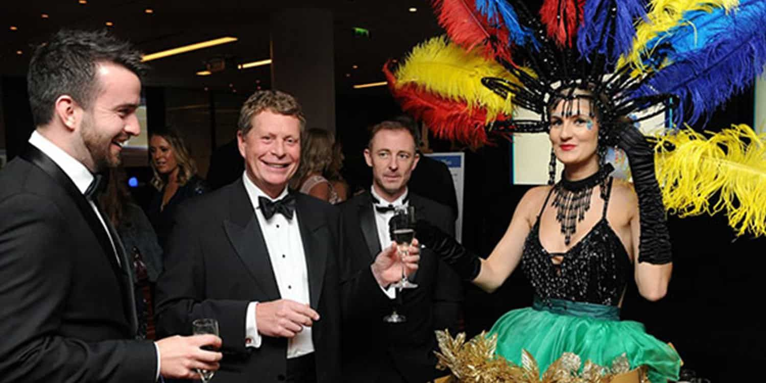 Champagne Dresses Serve Up Classy Event Entertainment At Awards Ceremony In London