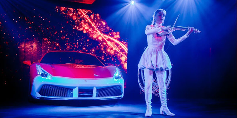 LED Performances Light Up Basel Event