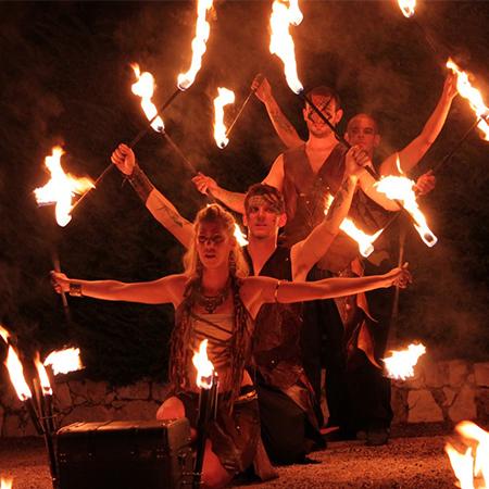 Cie Haut Perché - Drakaï'Gnis Fire show